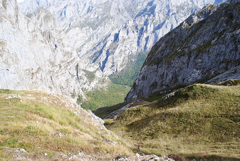 Bajada hacia Posada de Valdeón desde Vegahuerta